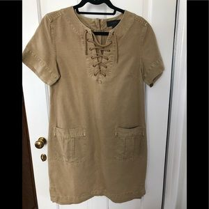 J. Crew Tan Short Sleeve Dress